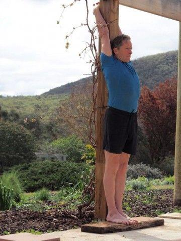 standing up for tadasana  griffins hill retreat yoga and