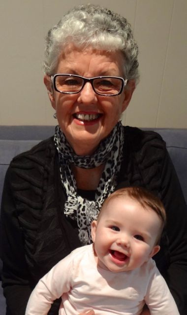 Carol with Grandchild Austyn